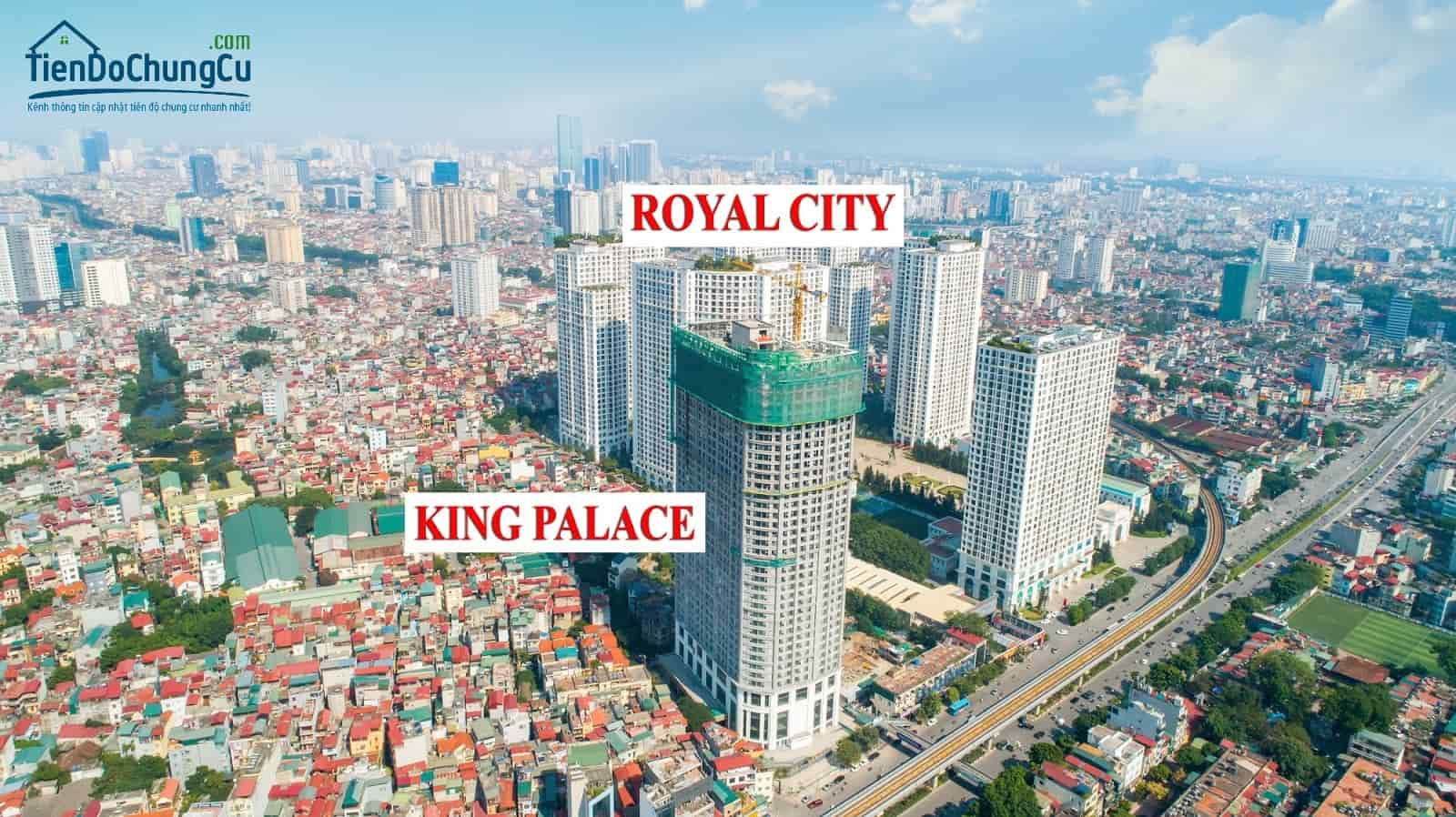 tiến độ thi công King Palace tháng 11/2019